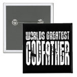 Retro Cool Godfathers : World's Greatest Godfather Buttons