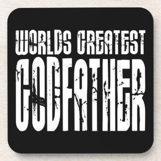 Retro Cool Godfathers : World's Greatest Godfather Beverage Coaster