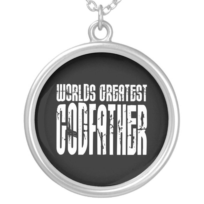 Retro Cool Godfathers : World's Greatest Godfather Silver Plated Necklace