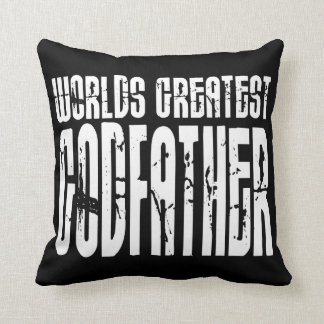 Retro Cool Godfathers : World's Greatest Godfather Throw Pillow