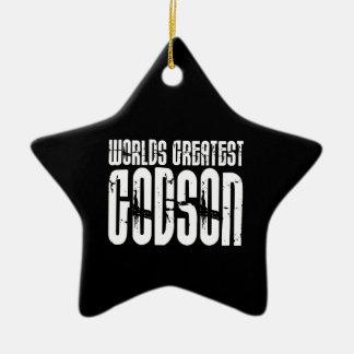 Retro Cool Godsons : World's Greatest Godson Ceramic Ornament