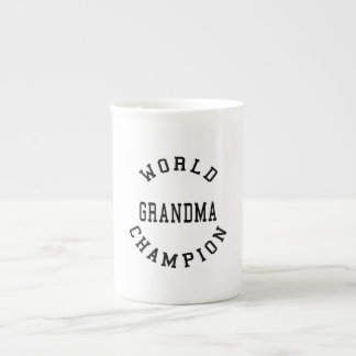 Retro Cool Grandmas Gifts World Champion Grandma Bone China Mug