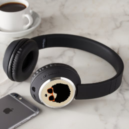 Retro Cool Hipster 'Fro Headphones
