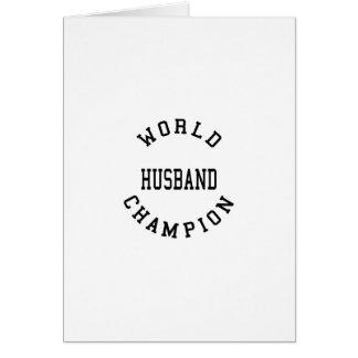 Retro Cool Husbands : World Champion Husband Greeting Card