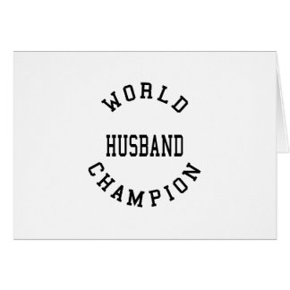 Retro Cool Husbands : World Champion Husband Greeting Cards