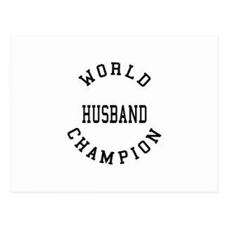 Retro Cool Husbands : World Champion Husband Post Cards