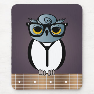 Retro Cool Rockabilly Owl mousepad