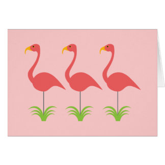 Retro Coral Pink Flamingos for Any Occasion Card