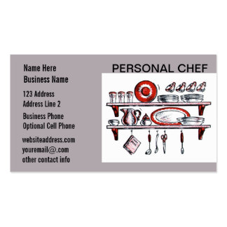 Retro Country Kitchen Shelf in Black White and Red Business Card Templates