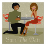 Retro Couple Save The Date Announcement (AA)