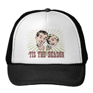 "Retro Couple ""Tis the Season"". Trucker Hat"