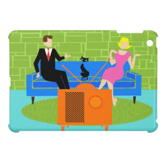 Retro Couple with Cat iPad Mini Case