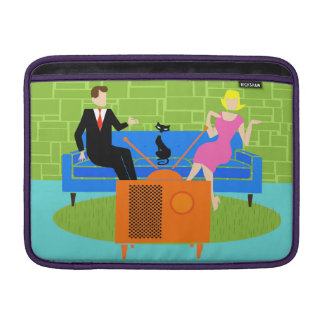 Retro Couple with Cat MacBook Air Sleeve