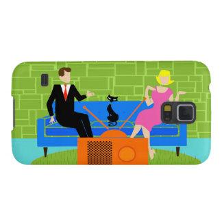 Retro Couple with Cat Samsung Galaxy S5 Case