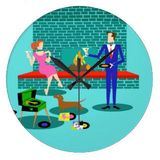 Retro Couple with Dog Acrylic Wall Clock
