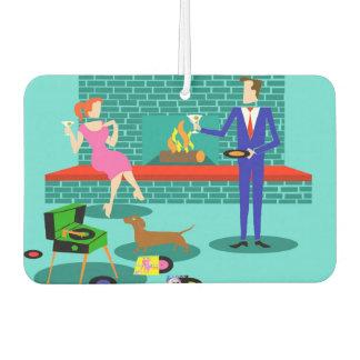 Retro Couple with Dog Air Freshener