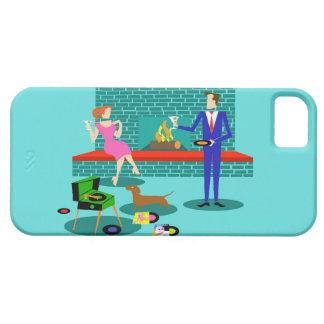 Retro Couple with Dog iPhone 5/5S Case