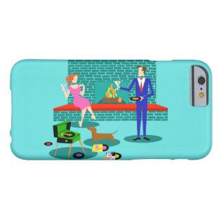 Retro Couple with Dog iPhone 6 Case