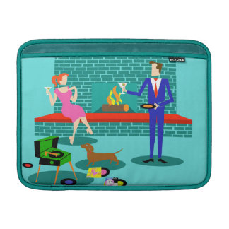 Retro Couple with Dog MacBook Air Sleeve
