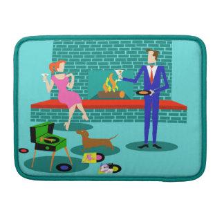 Retro Couple with Dog MacBook Pro Sleeve