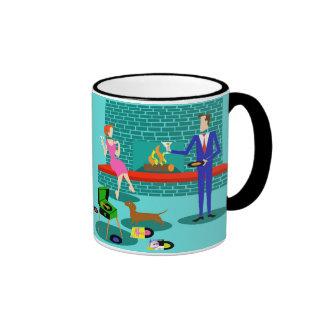 Retro Couple with Dog Mug