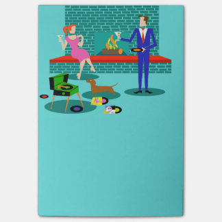 Retro Couple with Dog Post-It Notes Post-it® Notes