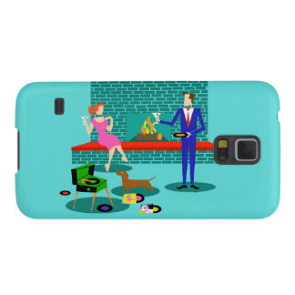 Retro Couple with Dog Samsung Galaxy S5 Case