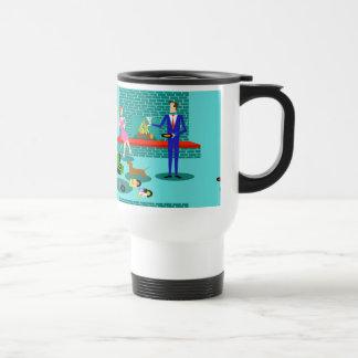 Retro Couple with Dog Travel Mug