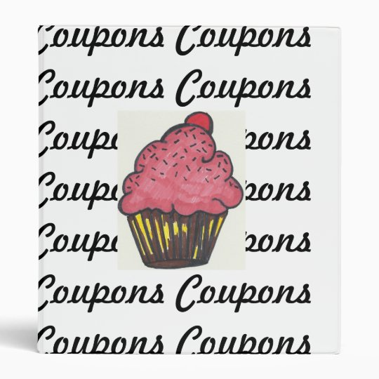 Retro Coupon Binder Cupcake