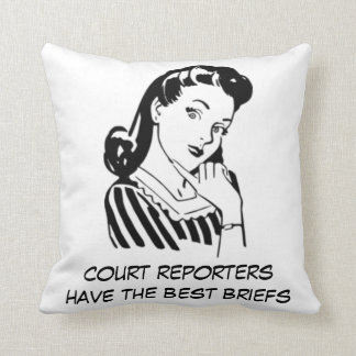 Retro Court Reporters have the Best Briefs Quote Throw Pillow