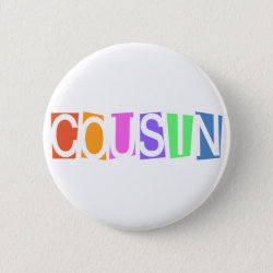 Round Button with Retro Cousin design