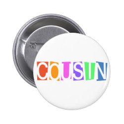 Round Button with Retro Cousin design