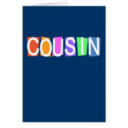Greeting Card with Retro Cousin design