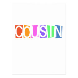 Retro Cousin Postcard