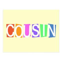 Postcard with Retro Cousin design