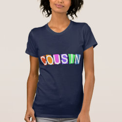Women's American Apparel Fine Jersey Short Sleeve T-Shirt with Retro Cousin design