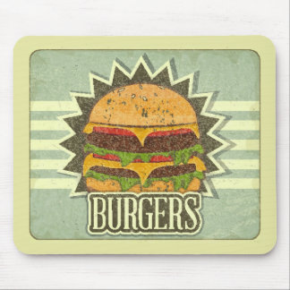 Retro Cover For Fast Food Menu Mouse Pad