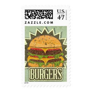 Retro Cover For Fast Food Menu Stamp
