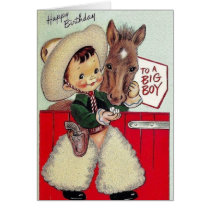 Retro Cowboy Birthday Card For A Big Boy