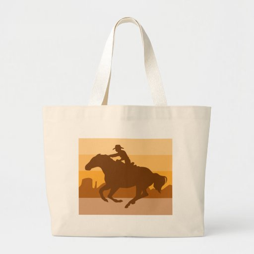 Retro Cowboy Jumbo Tote Bag