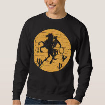 Retro Cowboy Western Country Vintage Rodeo Riding Sweatshirt