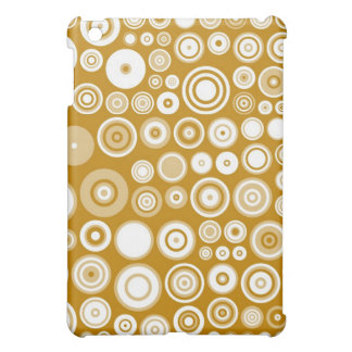 Retro Cream and White Fifties Abstract Art iPad Mini Case