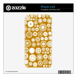 Retro Cream and White Fifties Abstract Art Skin For iPhone 4S
