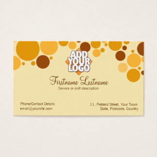 Retro Cream Bubbles Business Card