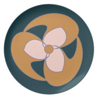 Retro Crescent Flower (Golden) Plate