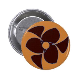 Retro Crescent Spiral Triquerta Autumn 2 Inch Round Button