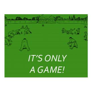Retro Cricket Postcard