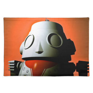 Retro Cropped Toy Robot 01 American MoJo Placemats