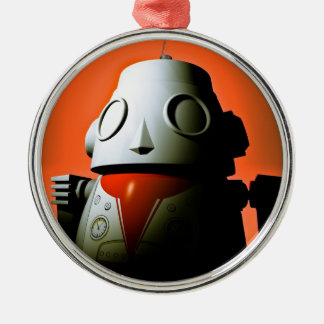 Retro Cropped Toy Robot 01 Ornament