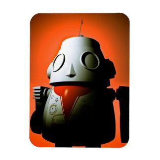 Retro Cropped Toy Robot 01 Premium Flexi Magnet